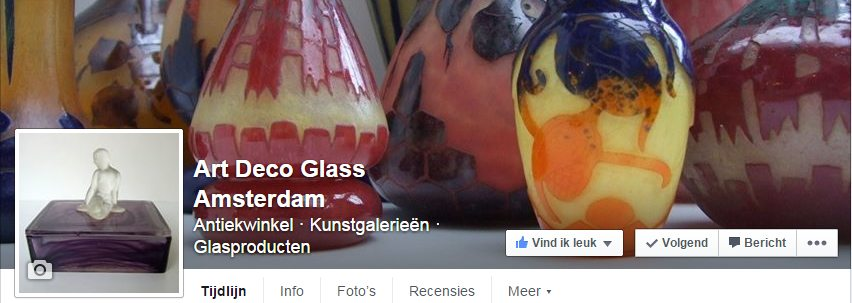 LINK Facebook Art Deco Glass Amsterdam